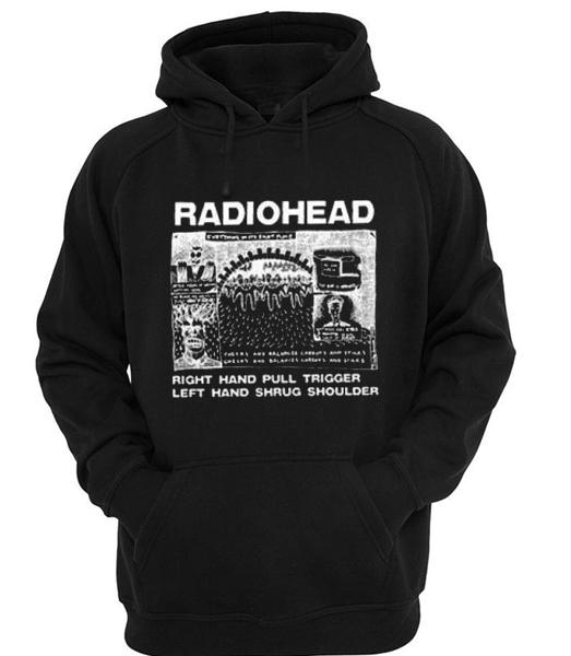 Radiohead Quote Black Hoodie