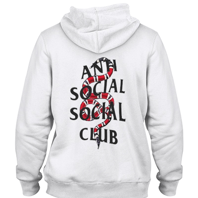 Anti social social club x snake Hoodie