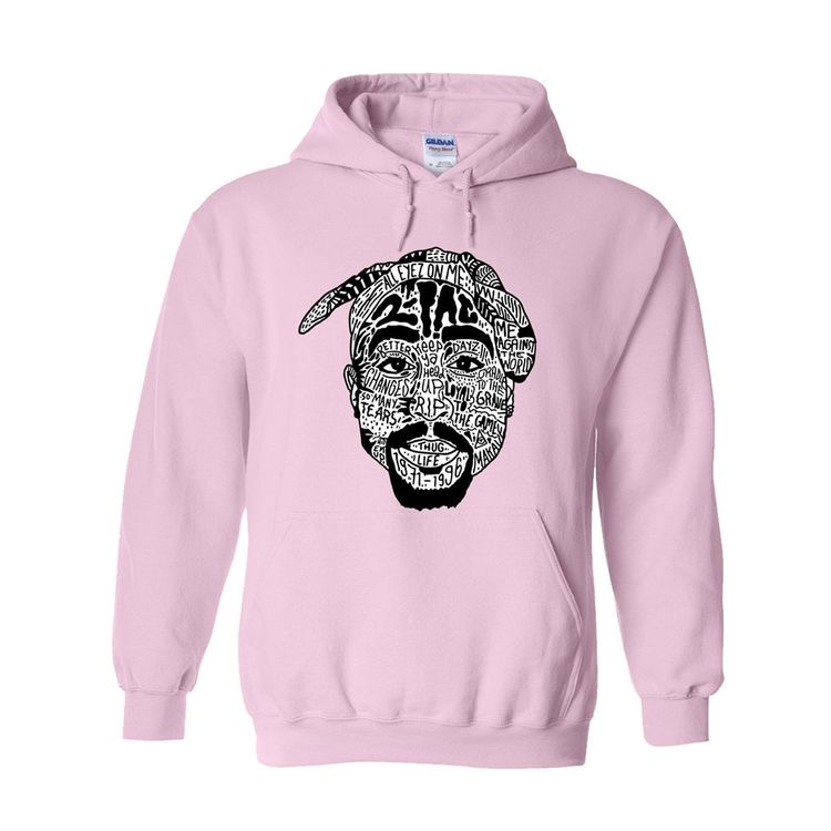 2pac Typography Hoodie