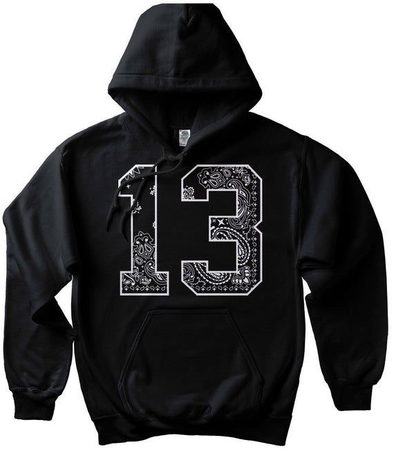 13 Black Bandana Hoodie