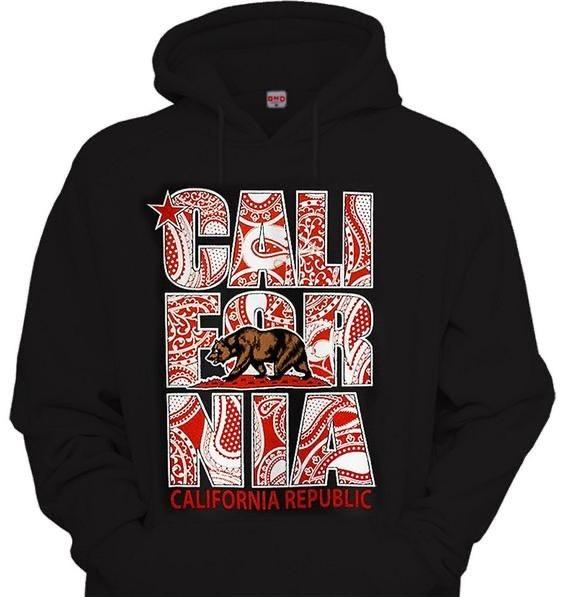 California Red Bandana Hoodie
