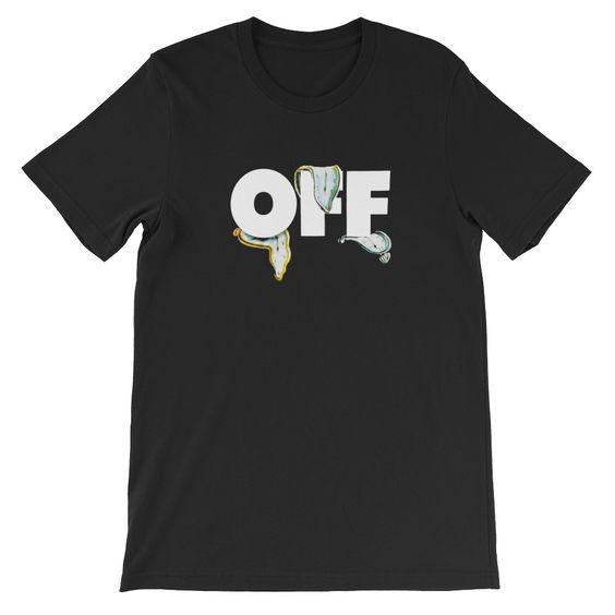 Off White Melting Clock T-Shirt