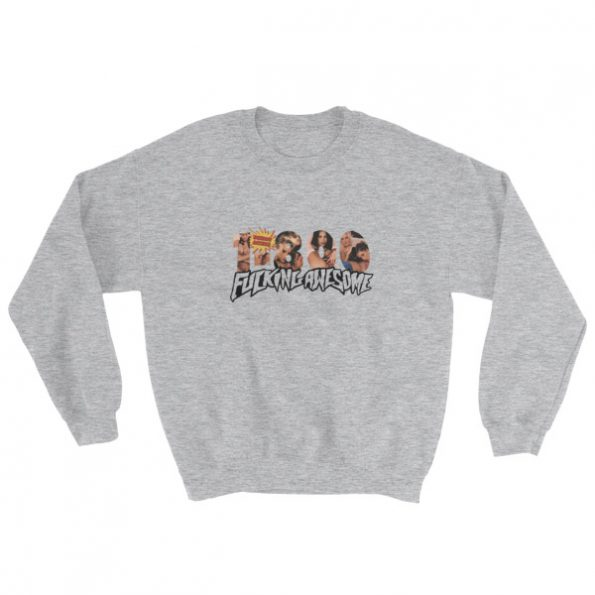 1 800 Fucking Awesome Sweatshirt Grey